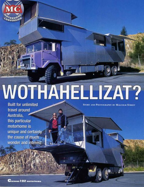 """Wothahellizat"" is Australia's largest and weirdest off-road motorhome"