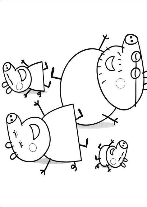 kidsnfun  coloring page peppa pig peppa pig  peppa