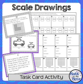 Scale Drawings Task Card Activity 7 G 1 Task Cards Junior