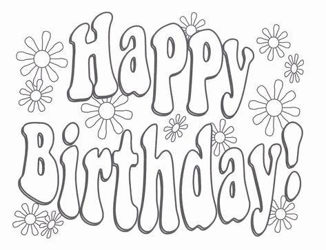 printable coloring birthday cards in 2020 with images