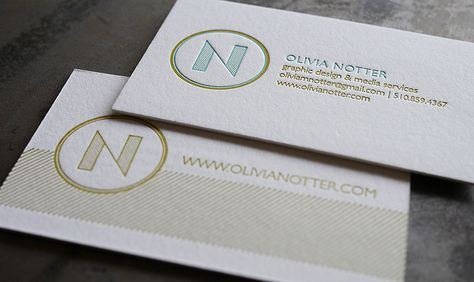 Gorgeous two-sided letterpress business cards! Design - letterpress business card
