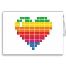 Coeur Arc En Ciel Pixel Art Art Et Album Photo