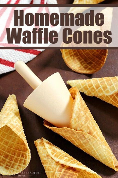 Homemade Waffle Cones are so easy to make at home – let me show you how!