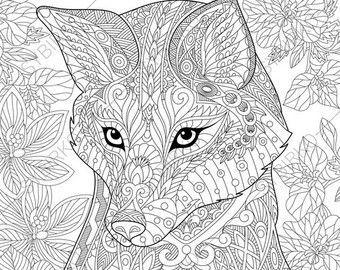 Adultos Para Colorear Gato Montés Doodle De Zentangle Para