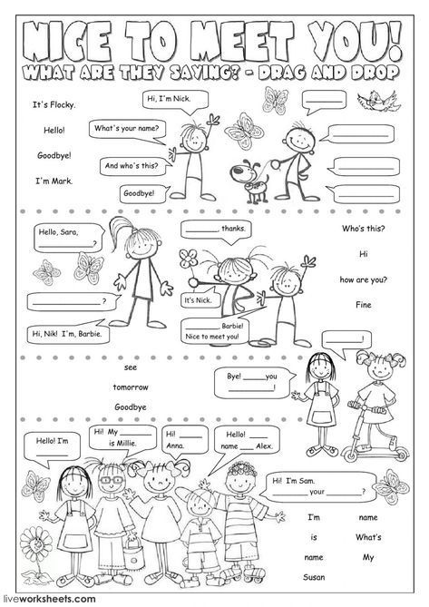 Greetings And Farewells Interactive And Downloadable Worksheet You Can Do The E Learning English For Kids English Worksheets For Kids English Lessons For Kids