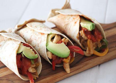 Fajitas De Pollo Y Verduras Fajitas De Pollo Pollo Con Verduras Wraps De Pollo