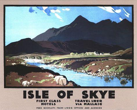 Vintage LMS Glencoe Scotland Railway  Poster A3//A2//A1 Print