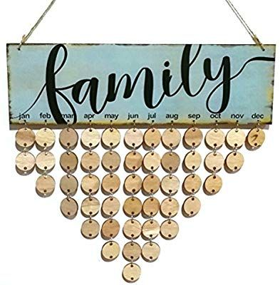 Amazon.com: ROSENICE FAMILY Birthday Reminder Hanging DIY Wooden
