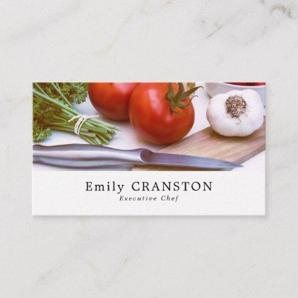 Pin On Chef Business Cards