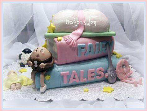 Nursery rhyme baby shower cake