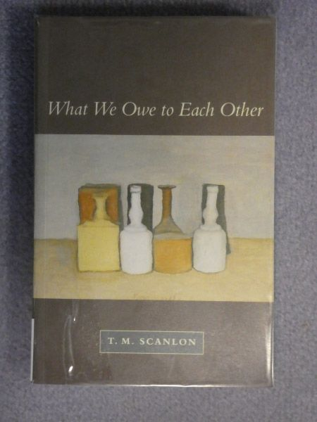 What Do We Owe To Each Other : other, Other, Scanlon, Condiments,