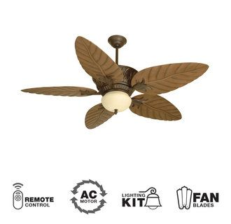 Shop Palm Coast San Martin Plus 52 In Aged Brass Downrod Or Flush Mount Ceiling Fan With Light Kit At Lowes