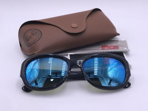 8b645a4c71 RAY BAN RB4282-CH 601 A1 Polarized Blue Mirror Chromance   Gloss Black  AUTHENTIC  fashion  clothing  shoes  accessories  unisexclothingshoesaccs  ...