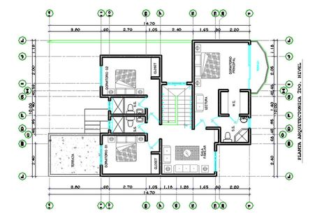 Plan Autocad du0027une maison du0027habitation en DWG AutoCAD and Architecture