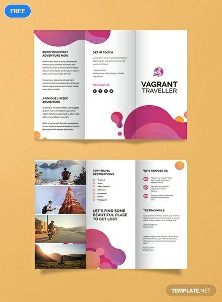 Free Modern Travel Brochure Desain Brosur Brosur Proposal
