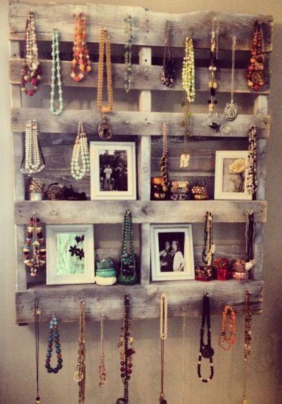 Pallet Shelving (Vanity-style, jewelry holder, bedroom)