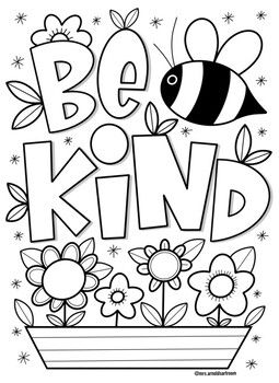 Kindness Coloring Page Free Kids Coloring Pages Coloring Pages Free Printable Coloring Sheets
