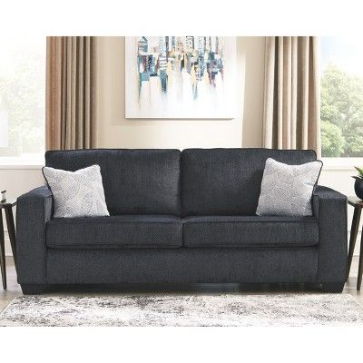 Altari Queen Sofa Sleeper Slate Gray Signature Design By Ashley