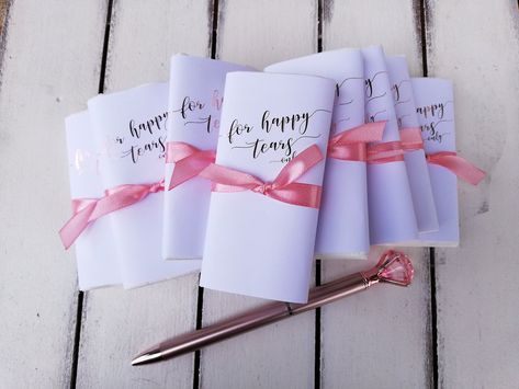 50 pieces of Pleasure tears handkerchiefs boxes For your happy Tears