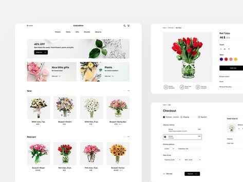 Flower Store UI Kit - Cassiopeia Sketch Freebie