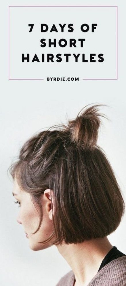 Short Hairstyles For Everyday Of The Week That Are Super Simple Easy Quick And Totally Diy Try T In 2020 Short Hair Styles Easy Short Hair Styles Curly Hair Styles