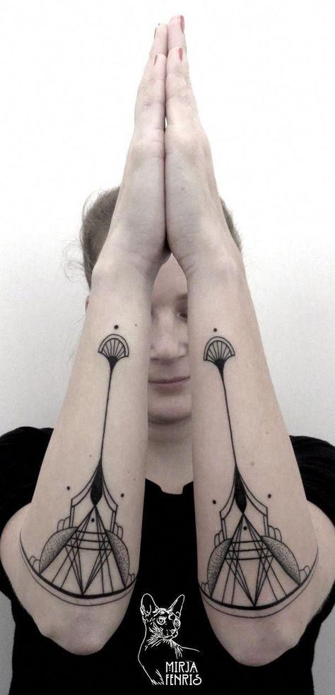 Photo of geometrische tattoos frauen
