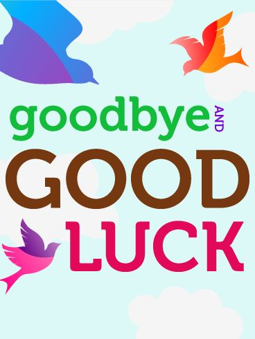 Goodbye \ Good Luck Flying Birds Card When you move from one - farewell card template
