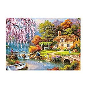 Pikolai Puzzles For Adults 1000 Pieces Landscape Puzzle Set Art Painting About Country Scenery Funny Family Games Home Decoration Toys Flirts Puzzles For Kids Fun Games For Kids Puzzle For Adults