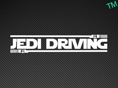 Details About Jedi Driving Funny Star Wars Car Sticker Vinyl Decal