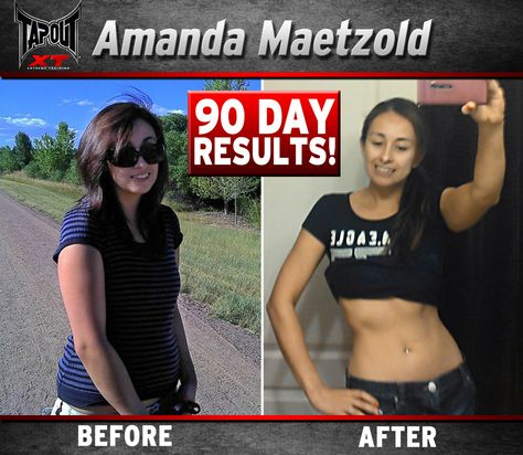 Check out how Amanda got her abs with TapouT XT!!! Look at that rockin bod!