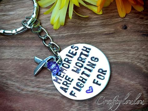 a81b0f44857 Alzheimer's and Dementia awareness. Stamped necklace, stamped keychain, stamped  bracelet, awareness