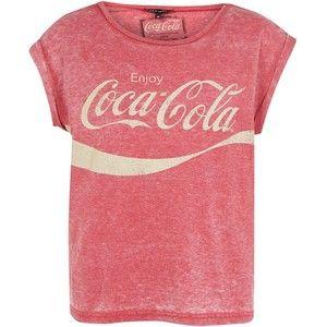 Red Coca-Cola Burnout T-Shirt