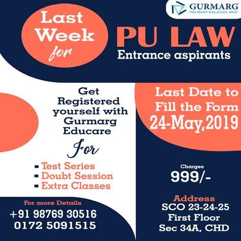 Last Week For Pu Entrance Pu Ba Llb Entrance Aspirants Last Date