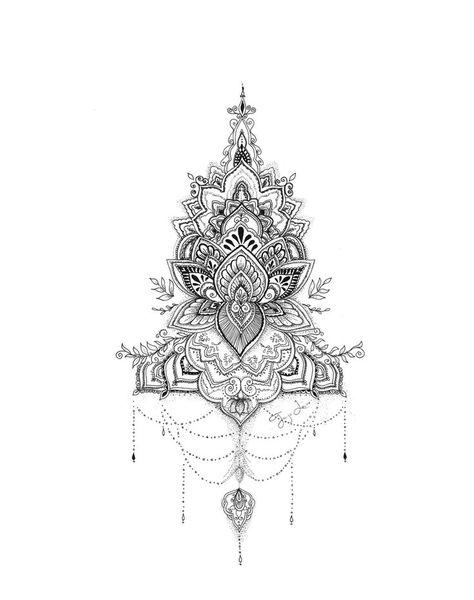 (CreativeWork) Lotus Mandala by Octavia Art. drawing. Shop online at Bluethumb. - Art: Tattoo Ornaments/LineArt - #Art #Bluethumb #CreativeWork #drawing #Lotus #mandala #Octavia #Online #OrnamentsLineArt #Shop #Tattoo