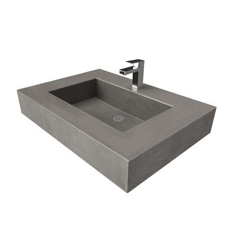30 Ada Floating Concrete Rectangle Sink Sink Floating Sink