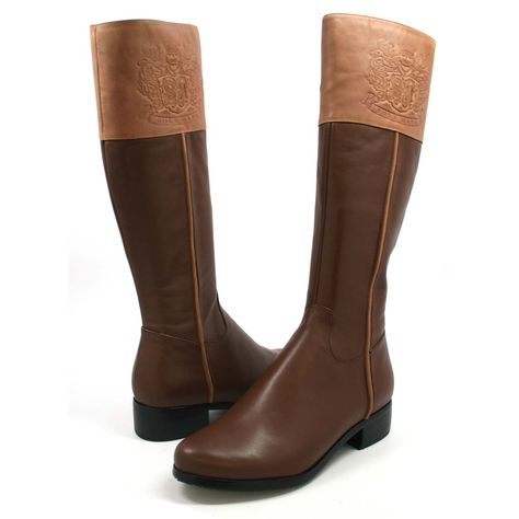 SoleMani Women's Chastity Brown Leather SLIM CALF | Boots