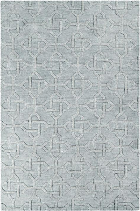 2 X area rug. Tone on tone, trellis pattern, in grey.