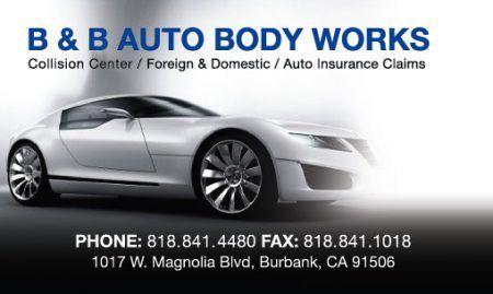 B B Auto Body Works In Burbank Ca California Body Works It