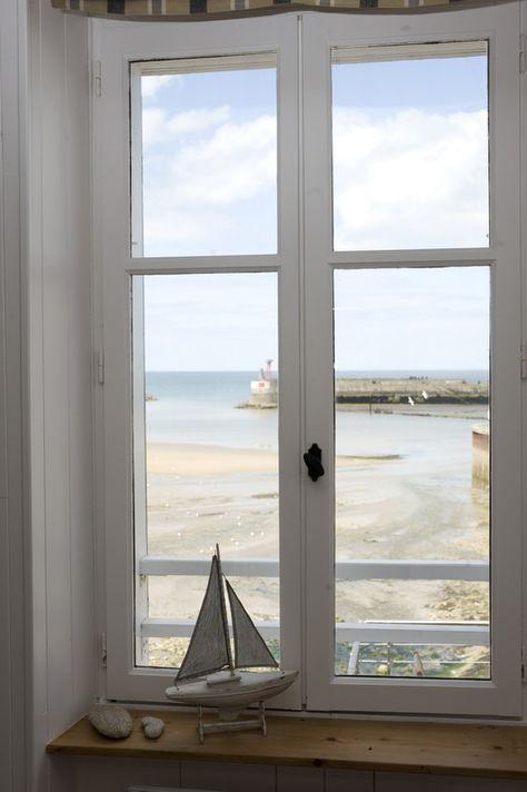 Location vue mer - La Maison sur le Quai, gite de charme*** à Port-en-Bessin, Normandie, face à la mer avec terrasse