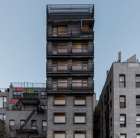 """New York apartment block references neighbourhood's """"gritty"""" past"""