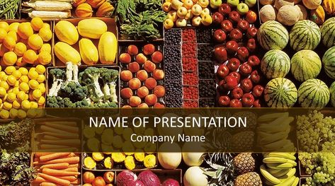 Healthy Food Powerpoint Template Powerpoint Design Templates