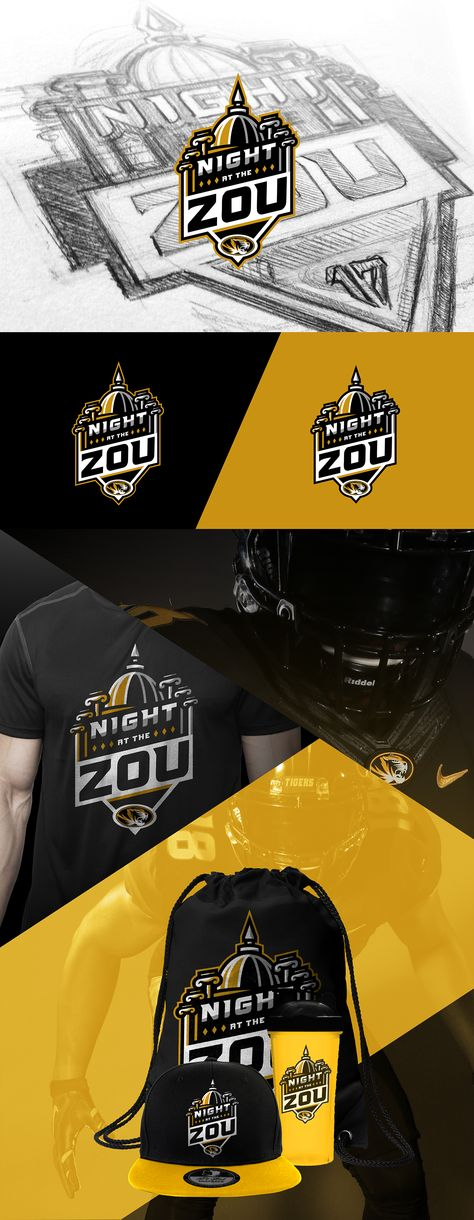 Mizzou Elite Prospect Camp Branding A Night At The Zou On Behance Branding Logo Branding Mizzou