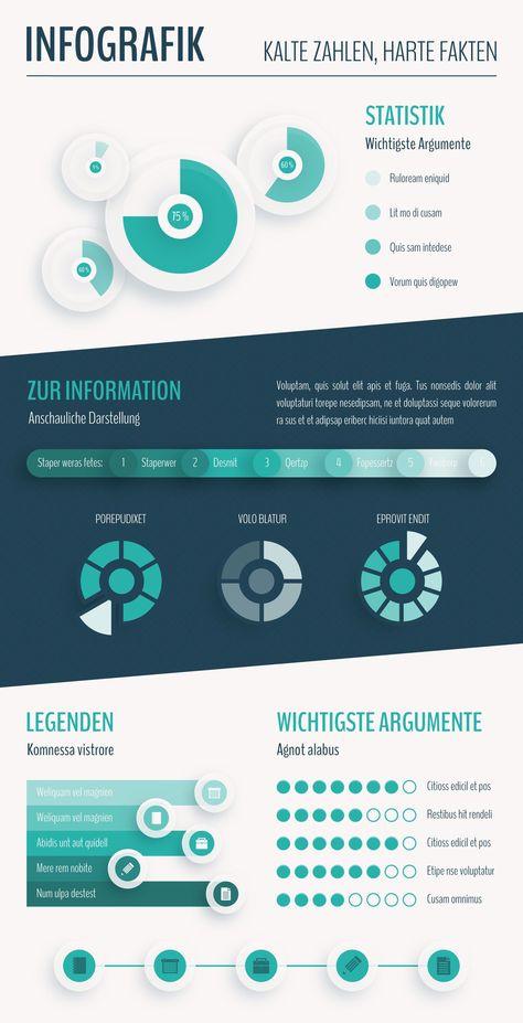 Sieben #Design-#Vorlagen für #Infografiken zur Bearbeitung in Adobe #Illustrator ab CS2 (AI- und EPS-Format). Nutze die vektorbasierten #Templates zur #Anzeige im #Web oder für #Printprodukte. Dein #Thema, dein Design: thematisch vielfältig und modern – so vermittelt man #Informationen heute.