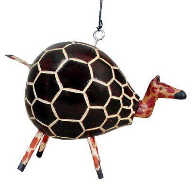The Holiday Aisle Giraffe Bobblehead Gourd Hanging Figurine Gourds Bobble Head Acrylic Decor