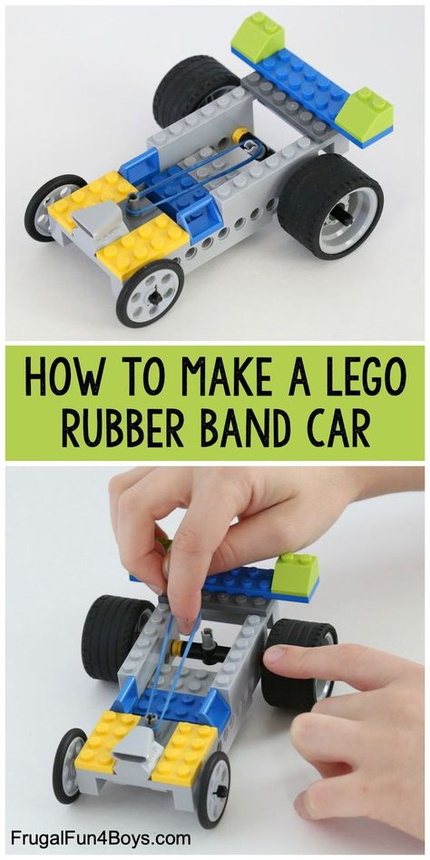 Rubber Band Powered Lego Car Rubber Band Powered Lego Car How to Build a Rubber Band Powered LEGO Car Fun engineering project with LEGO bricks! The post Rubber Band Powered Lego Car appeared first on Craft for Boys. Lego Design, Lego Activities, Toddler Activities, Minecraft Lego, Minecraft Buildings, Minecraft Skins, Lego Autos, Projects For Kids, Crafts