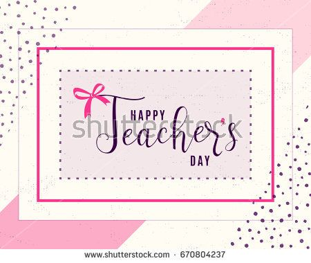 Vector Illustration Of Happy Teachers Day Greeting Design For