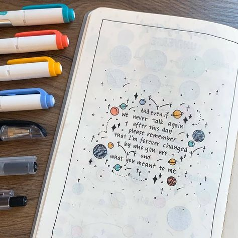 """Bullet Journal Fame! 📒❄️ on Instagram: """"... remember that I'm forever changed by who you are and what you meant to me✨🌙 . Double tap if you love journaling! 😍 Use #thepalepaper…"""""""