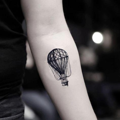 Hot Air Balloon Temporary Tattoo Sticker (Set of 2)
