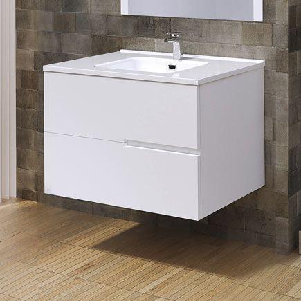 Mueble Baño Alda Blanco 80 X 45 Cm Leroy Merlin Muebles De Lavabo Muebles De Baño Muebles