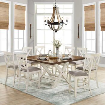 Stefan 9 Piece Square Counter Height Dining Set Counter Height Dining Sets Dining Set Bayside Furnishings